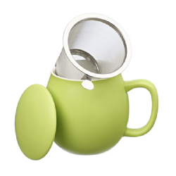 Camilla Tea mug with lid and stainless steel infuser, 0,35 lt, Matt Sprout Green
