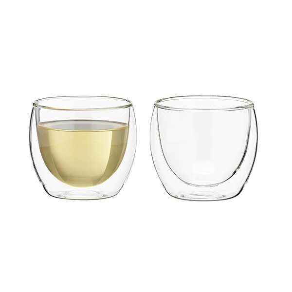 Two Glass teacups (150 cc) double wall
