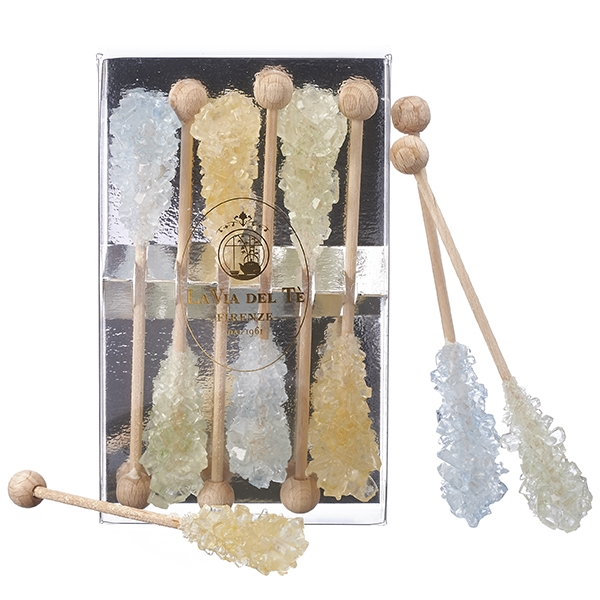 Pastel colours sugar cane crystals stick in 6 pieces box